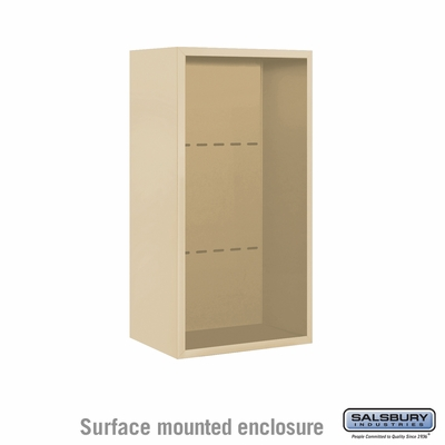 Salsbury Surface Mounted Enclosure for 3709 Single Column Unit - Sandstone
