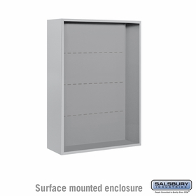 Salsbury Surface Mounted Enclosure for 3711 Double Column Unit - Aluminum