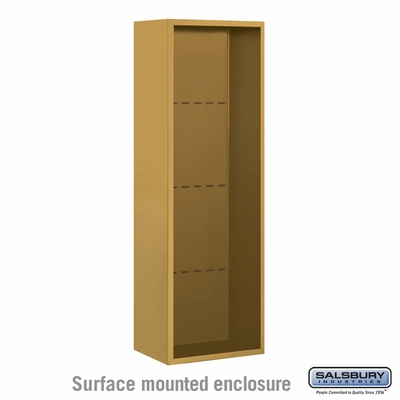 Salsbury 3811S-GLD Salsbury Surface Mounted Enclosure for 3711 Single Column Unit Gold