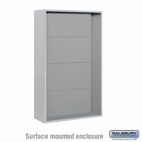 Salsbury Surface Mounted Enclosure for 3713 Double Column Unit - Aluminum