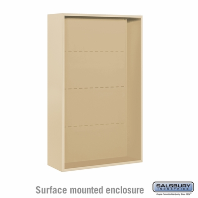 Salsbury Surface Mounted Enclosure for 3713 Double Column Unit - Sandstone