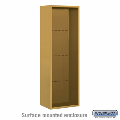 Salsbury 3813S-GLD Salsbury Surface Mounted Enclosure for 3713 Single Column Unit Gold