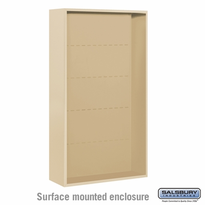 Salsbury Surface Mounted Enclosure for 3715 Double Column Unit - Sandstone