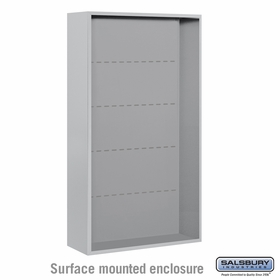 Salsbury Surface Mounted Enclosure for 3716 Double Column Unit - Aluminum