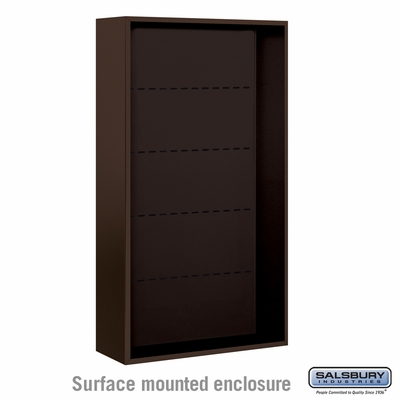 Salsbury Surface Mounted Enclosure for 3716 Double Column Unit - Bronze