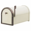 Sand Coronado Mailbox with Antique Copper Accents