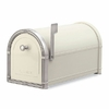 Sand Coronado Mailbox with Antique Nickel Accents