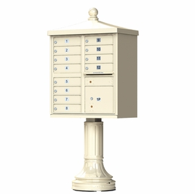 Traditional Decorative CBU Mailboxes - 12 Doors 1 Parcel Unit
