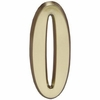 "Whitehall Satin Brass 5"" House Address Numbers Number ""0"""