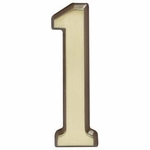 "Satin Brass 5"" House Address Numbers Number ""1"""