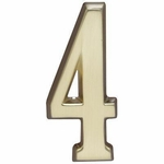 "Satin Brass 5"" House Address Numbers Number ""4"""