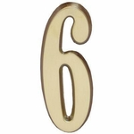 "Satin Brass 5"" House Address Numbers Number ""6"""
