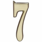 "Satin Brass 5"" House Address Numbers Number ""7"""