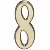 "Whitehall Satin Brass 5"" House Address Numbers Number ""8"""