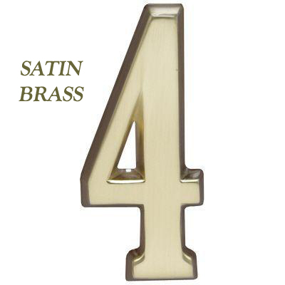 "Whitehall Satin Brass DeSign-it 4"" Number ""0-9"""