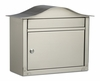 Satin Nickel Peninsula Locking Wall Mount Mailbox with Plain Door