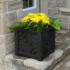 Savannah Patio Planter 16 x 16 Black