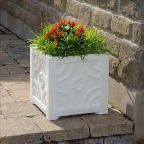 Savannah Patio Planter 16 x 16 White