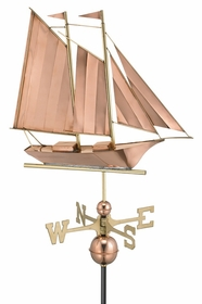 Schooner - Polished Weathervane