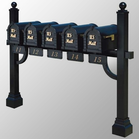 Keystone Series Deluxe Multi-Mount Mailbox Post - Custom Order for Mounting 6 or More (Contact us for Quote)
