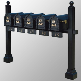 Keystone Series Multi-Mount Mailbox Post - Custom Order for Mounting 6 or more (Contact us for Quote)