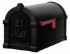 Signature Keystone Series Mailbox - Black with Black Script