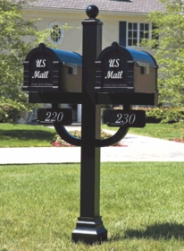 Signature Keystone Series Mailbox and Deluxe Double Mount Post Packages