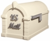 Signature Keystone Series Mailbox - Almond with Satin Nickel Script