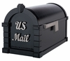 Signature Keystone Series Mailbox - Black with Satin Nickel Script