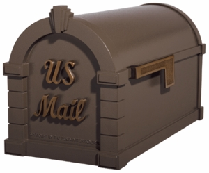 Signature Keystone Series Mailboxes Bronze with Antique Bronze