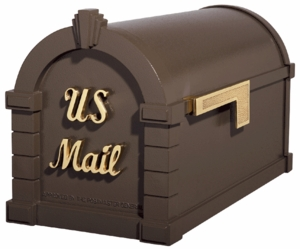 Signature Keystone Series Mailboxes Bronze with Polished Brass