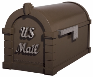 Signature Keystone Series Mailboxes Bronze with Satin Nickel