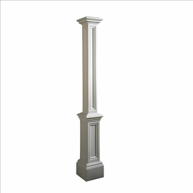 Signature Lamp Post (decorative sleeve only) in White