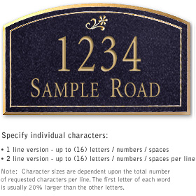 Salsbury 1422BGDS Signature Series Address Plaque