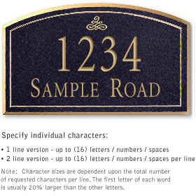 Salsbury 1422BGIS Signature Series Address Plaque