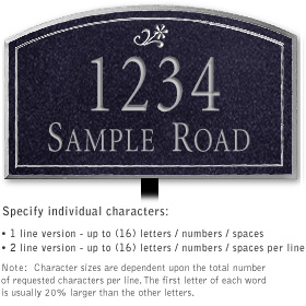 Salsbury 1422BSDL Signature Series Address Plaque