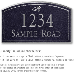 Salsbury 1422BSDS Signature Series Address Plaque