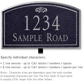 Salsbury 1422BSFL Signature Series Address Plaque