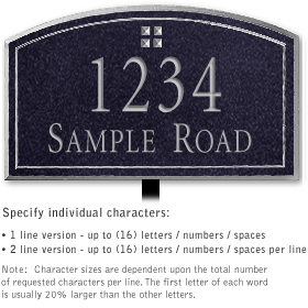 Salsbury 1422BSGL Signature Series Address Plaque