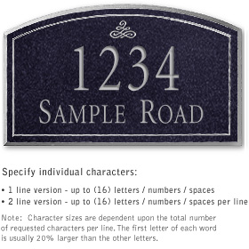 Salsbury 1422BSIS Signature Series Address Plaque