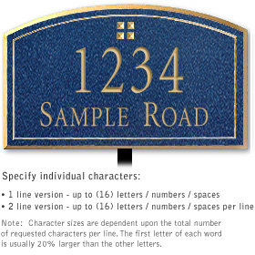 Salsbury 1422CGGL Signature Series Address Plaque