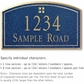 Salsbury 1422CGGS Signature Series Address Plaque