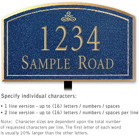Salsbury 1422CGIL Signature Series Address Plaque