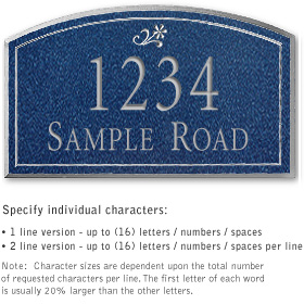 Salsbury 1422CSDS Signature Series Address Plaque