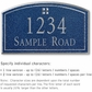 Salsbury 1422CSGS Signature Series Address Plaque