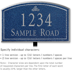 Salsbury 1422CSIL Signature Series Address Plaque