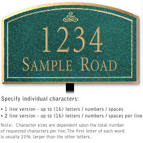 Salsbury 1422JGIL Signature Series Address Plaque