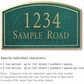 Salsbury 1422JGNS Signature Series Address Plaque