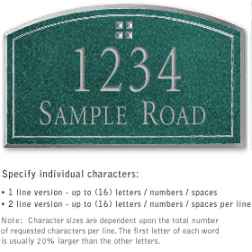 Salsbury 1422JSGS Signature Series Address Plaque