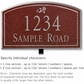 Salsbury 1422MSDL Signature Series Address Plaque